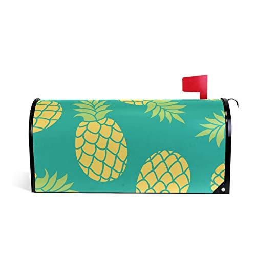 CPYang Fruits tropicaux Ananas magnétique pour boîte aux Lettres pour Home Garden Yard Deco Makeover Mail Wrap 20.8 x 18 inch Multicolore