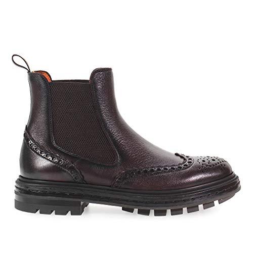 Santoni , Herren Stiefel schwarz T.moro, schwarz - T.moro - Größe: 42.5 EU
