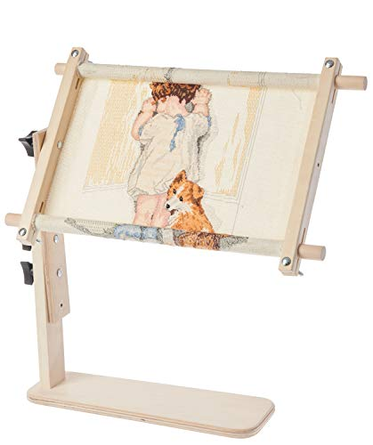 "Frank A. Edmunds Sit-On Needlework Frame, 9"" x 18"", 2941"