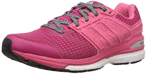 adidas , Damen Laufschuhe Pink rose, Pink (Bold Pink/Super Pink/Frozen Green), 38 EU / 5 UK