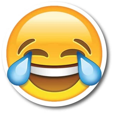 Amazon.com: Laughing Crying Emoji Magnet Decal Perfect for Car or Truck : Home & Kitchen