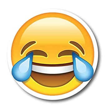 Laughing Crying Emoji Magnet Decal Perfect for Car or Truck