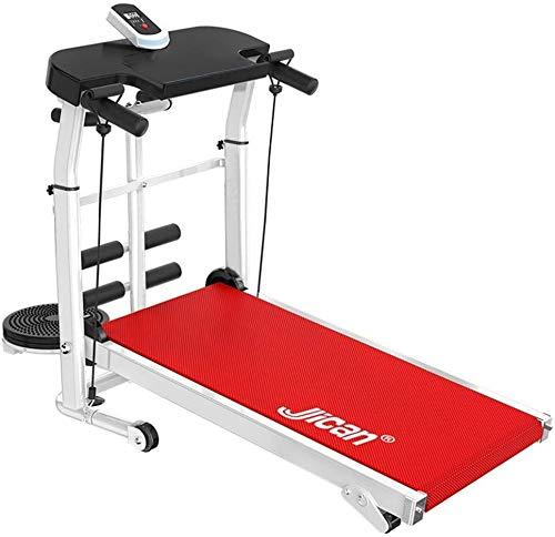 nice shop now Running Machine Plegable Mecánica Andar Trotar Caminar Fitness Carrera en Cintas de Correr no Eléctrico hasta 330lb Ideal para Hogar/Oficinas (Rojo)