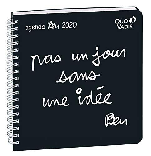 Quo Vadis Ben Executif Spiralé Agenda Civil Semainier 16x16cm Noir Pas Un Jour sans une Idée Année 2020