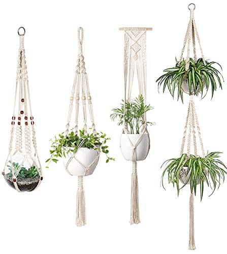 Mkouo Macrame Plant Hangers Set ...