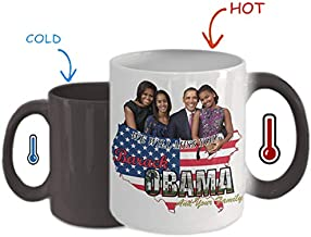 Perfect Present For Barack Obama And Michelle Obama Supporter Obama Family We'll Miss You Color Changing Coffee Mug - 11Oz White Gift For Husband Wife Friend Parents In Independence Day Graduation Day