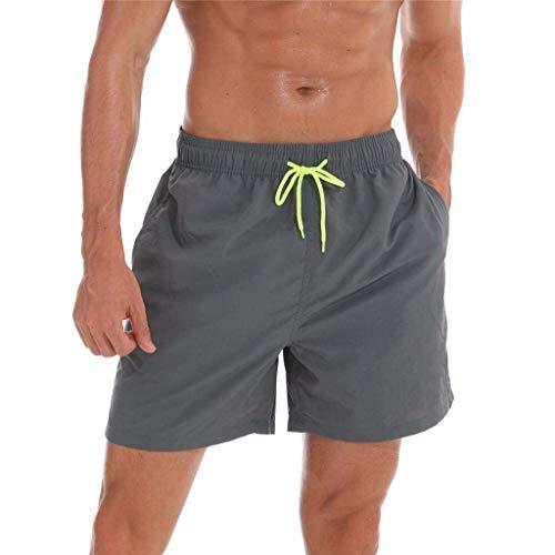 Onsoyours Bañadores Hombre Chico Playa Bolsillo Pantalon Corto Hombre Deporte Secado Rápido Bañadores Natacion Ligero Moda Shorts