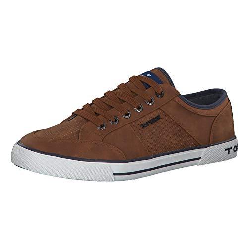 TOM TAILOR Herren 6980801 Sneaker, Braun (Cognac 00205), 41 EU
