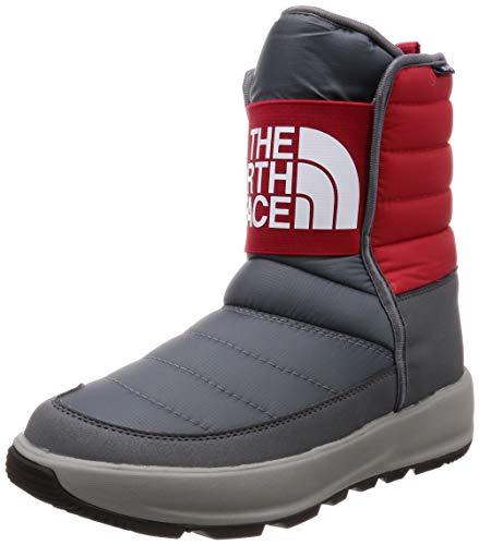 [ザノースフェイス] ブーツ Apres Pull-On ジンクグレー×TNFレッド 24 cm