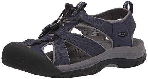 Keen Men's Venice H2 Closed Toe Water Sandal, Navy/Steel Grey, 8 UK