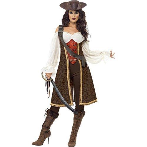 NET TOYS Piratin Kostüm Piratenbraut M 40/42 Piratenkostüm Damen Piratinnenkostüm Piratinkostüm Piraten Verkleidung