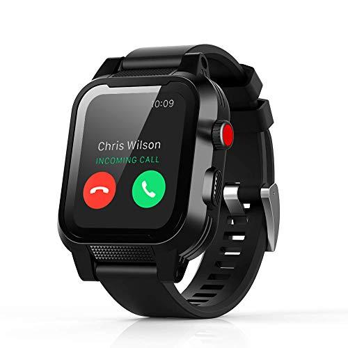 Waterproof Case for 40mm Apple Watch 4,IP68 Waterproof Dust-Proof Shockproof Case with Watchband for Apple Watch Black (40mm Apple Watch Waterproof Case)