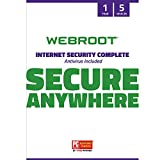Webroot Internet Security Complete with Antivirus Protection Software | 5 Device | 1 Year Subsc…