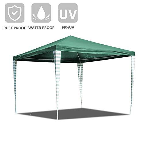 Hengda 3x3m Garten Pavillon UV-Schutz Material PE-Plane Hoch Qualität Wasserdicht Grün Gartenzelt Partyzelt für Hochzeit Garten Markt