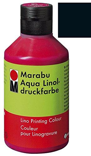 Marabu 151013073 Aqua-Linoldruckfarbe, schwarz, 250 ml