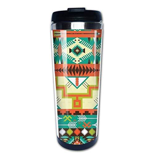 Zuidwestelijke Zuidwestelijke Navajo Abstract Aztec Koffie Bekers Roestvrij Staal Water Fles Cup Travel Mok Koffie Tumbler voor Vrouwen/Mannen/Kinderen/Tieners/Volwassenen Thuis Outdoor