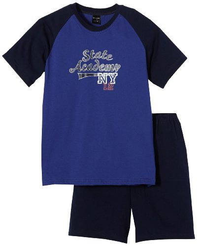 Schiesser Jungen Kn Kurz Zweiteiliger Schlafanzug, Blau (819-royal), 128 (6-7Y)