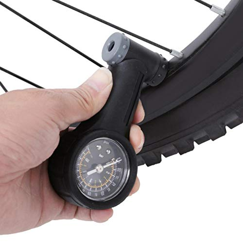 Wosune Accesorio para Bicicleta, medidor de neumáticos para Bicicletas, medidor de presión de neumáticos, portátil para Presta para Schrader, Ligero