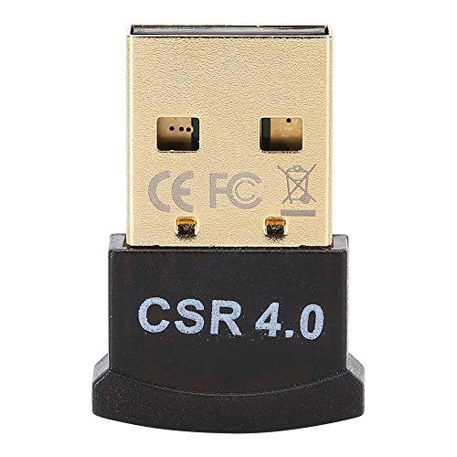 Adaptador Bluetooth, inalámbrico 4.0 Adaptador Bluetooth USB Mini BT Receptor de transmisión Admite Varios Idiomas para el hogar Auriculares estéreo con Cable Llamadas Manos Libres Teclado