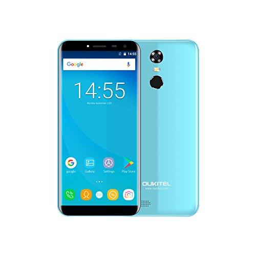 Günstige Smartphone, Oukitel C8 Dual SIM Handy Ohne Vertrag 5.5 Zoll Android 7.0 3000mAh Akku 3G Smartphon,16GB Interner Speicher 2GB RAM 13MP Kamera Billige Handys