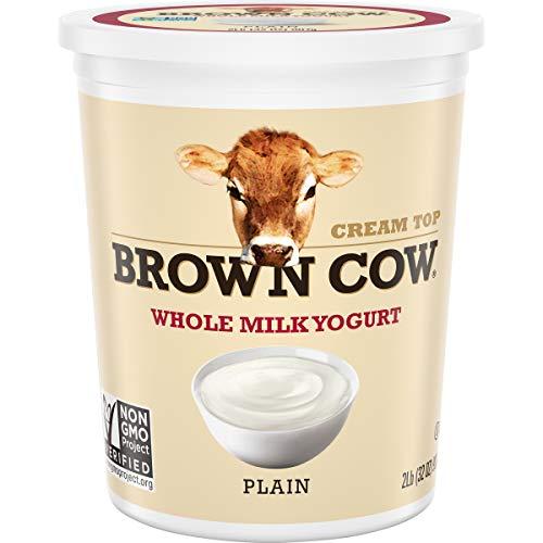 Brown Cow Cream Top Plain Whole Milk Yogurt, 32 oz. Carton - Creamy, Delicious Yogurt
