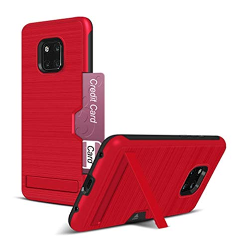 Fundas y fundas para iPhone XR con textura cepillada TPU+PC con soporte y ranura para tarjeta 8 (color rojo, tamaño: iPhone 7 G/8G)