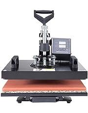 CO-Z Transferpers 38 x 30 cm mokkenpers textielpers hittepersmachine Heat Press 360 graden rotatie multifunctionele sublimatie warmtepers drukmachine hoed/plaat / cap / T-shirt