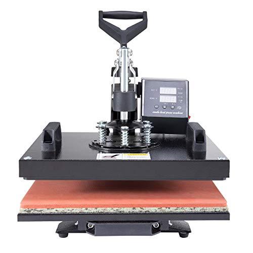 CO-Z Prensa de Calor 30 X 38CM Impresora para Camisetas con Control Digital Dual Máquina Plancha Termica Sublimacion Giratoria de 360 Grados (30 x 38 cm)