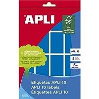 【APLI】手書き角丸カラーラベル 16片×8枚 計128片入 (AP-02755)