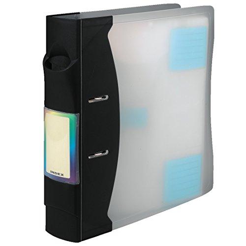 Hama CD-ROM Ordner für 120 CD-ROMs, Transparent/Graphite
