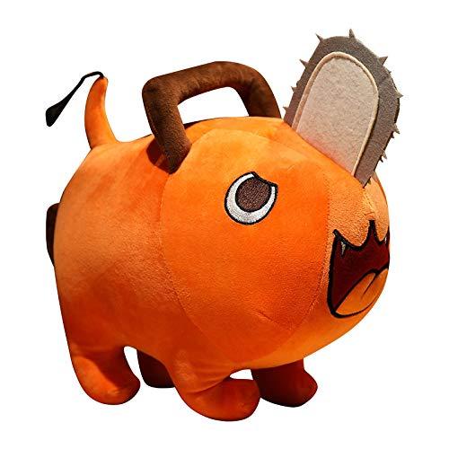 Creativo Motosierra Hombre muñeca de Peluche de Juguete de Dibujos Animados Almohada de Perro de Peluche de Juguete Regalo de cumpleaños para niños 20 cm / 7,9 Pulgadas Naranja