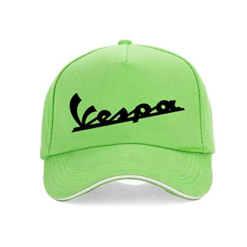 AJSJ Vespa Cap Männer Lustige Vespa Baseball Cap 100% Baumwolle Sommer Männer Frauen Verstellbarer Hip Hop Knochen, Grün
