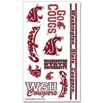 WSU Cougars Temporary Tattoos