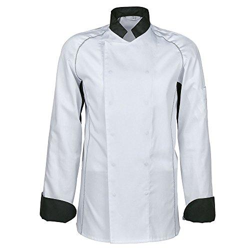 GREIFF Kochjacke,Ultraleicht'' | Regular Fit | Cuisine Premium | Style 5550| Schwarz/Weiß| Gr: M
