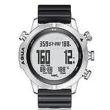 PEPENE Reloj deportivo profesional para hombres, redondo, impermeable,...