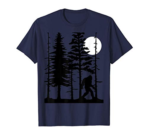 Bigfoot Hiding in Forest for Sasquatch Believers T-Shirt