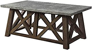 Better Homes and Gardens Granary Modern Farmhouse Coffee Table (Brown, DARK BROWN)