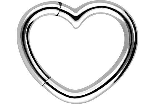 PIERCINGLINE Chirurgenstahl Clicker   Herz   Piercing Ring Ohrpiercing Daith Helix   Farbauswahl