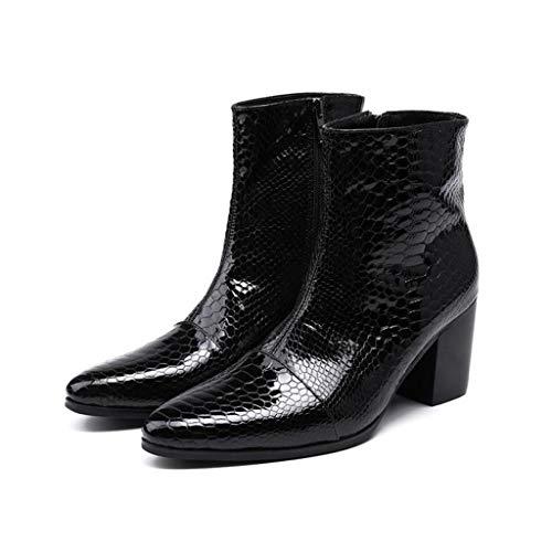 Mr.Zhang's Art Home Men's shoes Schwarz erhöhte Herrenstiefel, um Sich warm zu halten