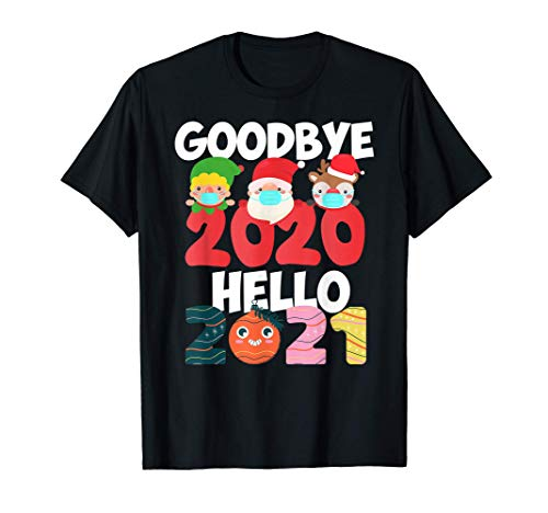 Feliz año nuevo 2021 Mascarilla Navidad Pijama Familia Camiseta