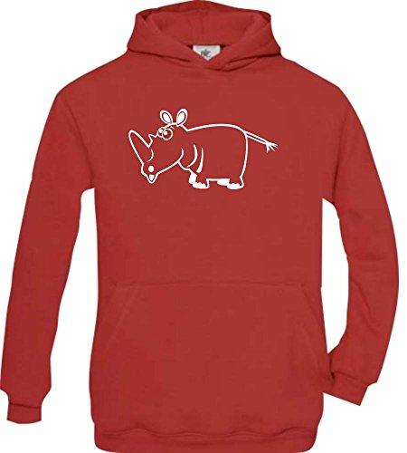 Shirtstown - Sweat-shirt à capuche - Col Rond - Manches Longues - Garçon - rouge - 14 ans