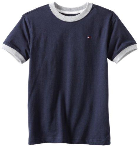 Tommy Hilfiger Boys 2-7 Ken Tee, Core Navy, 6/Regular Blue Kids Ringer T-shirt