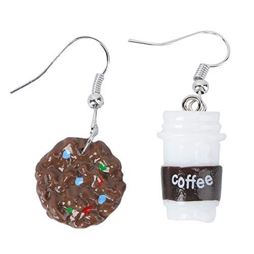 Holibanna Keks Kaffeetasse Ohrringe Harz Kaffeetasse Essen Tropfen Baumeln Ohrringe Ohrschmuck für Frauen Mädchen Geschenk Charms Schmuck (Verschiedene Farben)