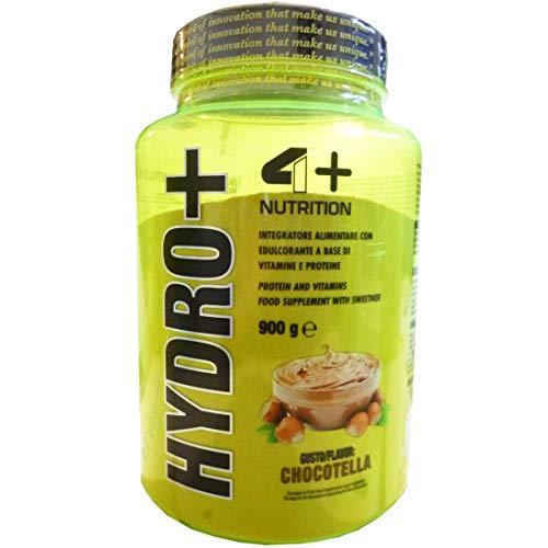 HYDRO+ [900 G] - 4+ NUTRITION - 100% PROTEINE DEL SIERO DEL LATTE IDROLIZZATE (CHOCOTELLA)