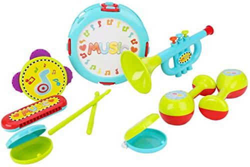 Toyland® 10-delige muziekbandenset voor peuters - inclusief drums, trompet, tamboerijn en meer! -Babyspeelgoed - Geschikt voor leeftijden 2+