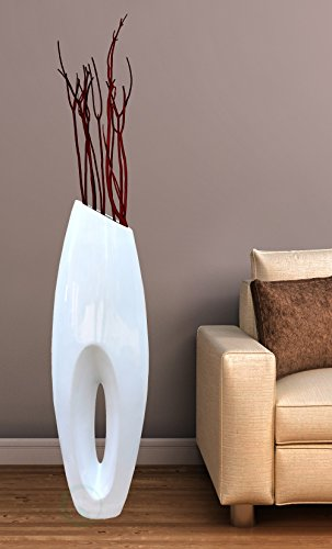 Uniquewise(TM) Modern White Large Floor Vase - 40 Inch