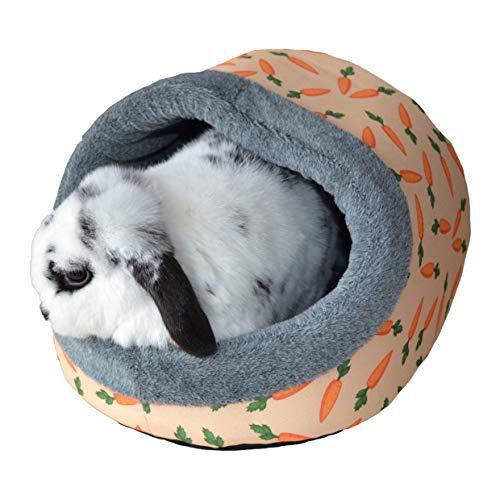 Rosewood 19614 Snuggles Hauben-Plüschbett Mit Karotten-Print Für Kaninchen, Meerschweinchen, Frettchen Und Ratten