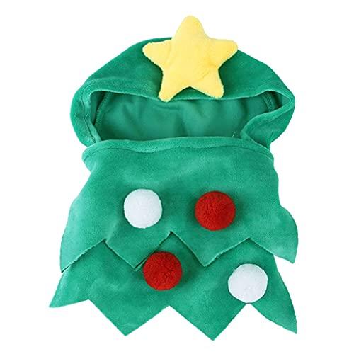 TISHITA Disfraz de árbol de Navidad de Gato de Perro, Vestido de...