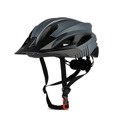 SHGK Casco de Ciclismo con ventilación Moldeada integralmente para Hombres/Mujeres con Visera...