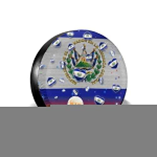 zhouyeT Cubierta del neumático El Salvador Flag Spare Tire Cover Universal Truck Wheel Tyre Protector for SUV Trailer RV Truck Wheel